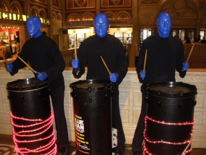 Vegas activities blue man group